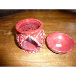 Burning perfumes / incense red soapstone