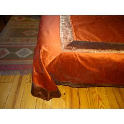 Taffeta brocade curtains edges