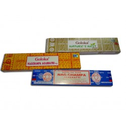 Incense discovery pack GOLOKA and NAG CHAMPA stick