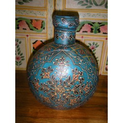 water jar hand painting turquoise (PM)